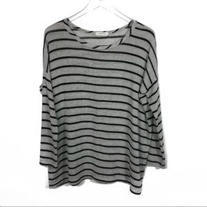 Striped Oversized Sweater #888